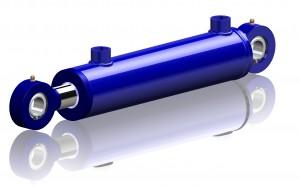 Dubbelverkande hydraulcylinder