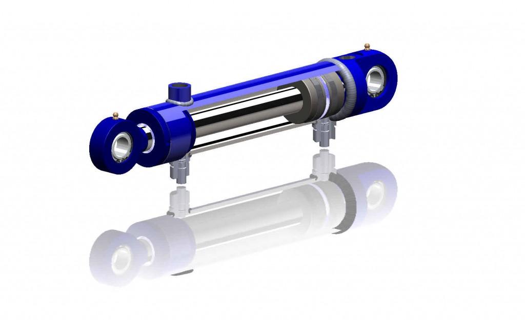 Hydraulcylinder med givare